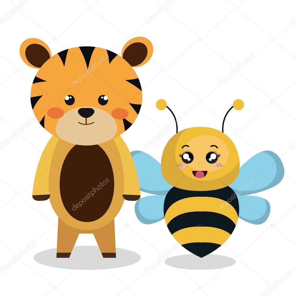 cute couple stuffed animals — stock vector © yupiramos #129247778
