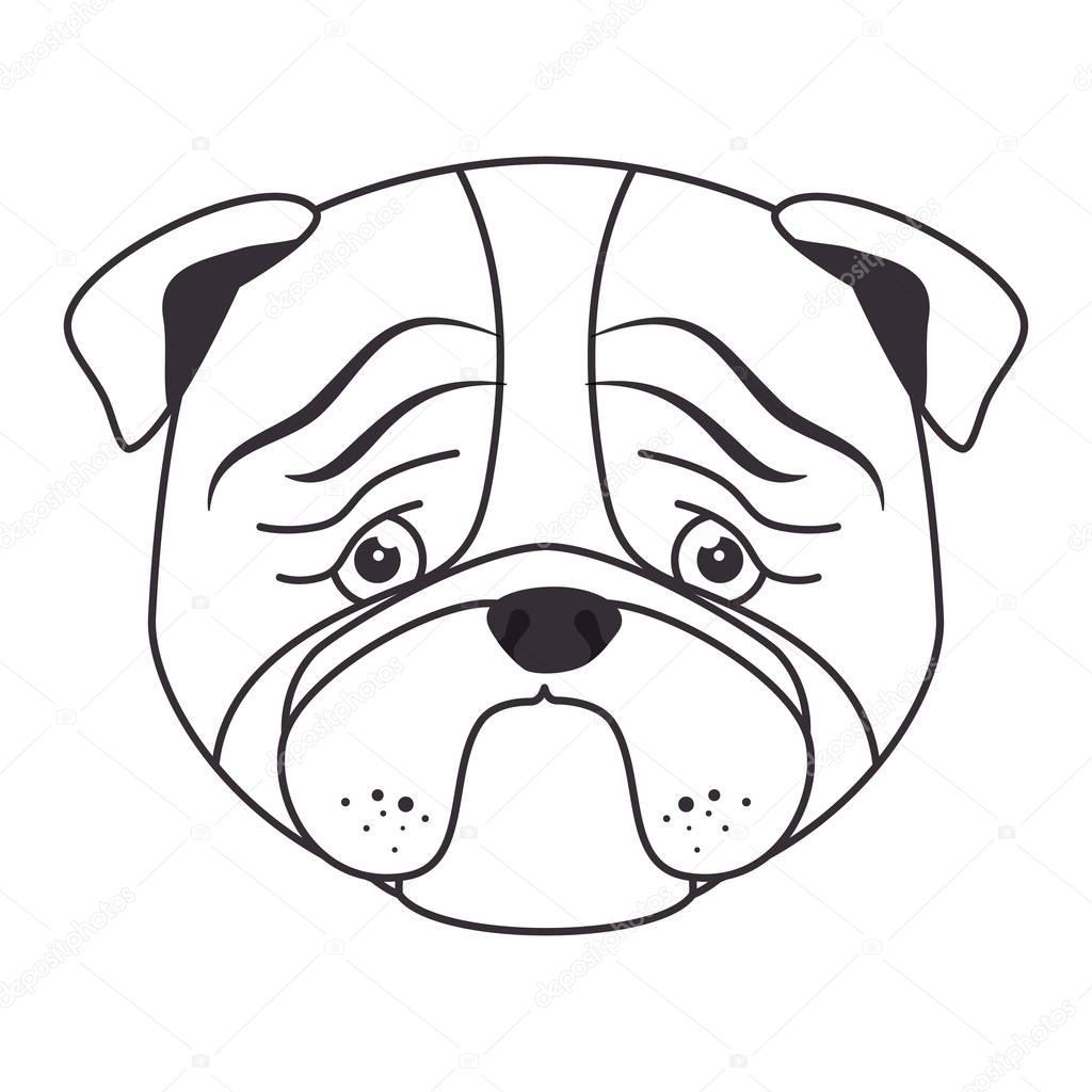 Hand Draw Sad Face Dog Stock Vector C Yupiramos 129255308