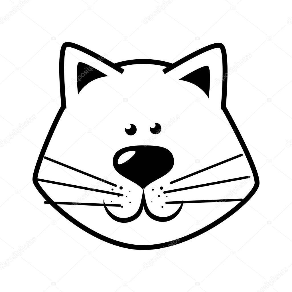 Imágenes Cara De Gato Para Dibujar Dibujo Gato Cara Feliz De La