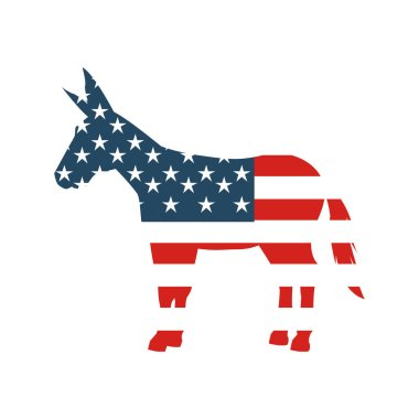 democrat party isolated icon