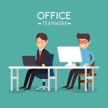 office teamwork people icon