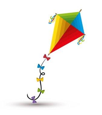kite toy isolated icon