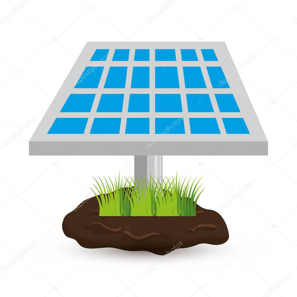 solar panel isolated icon