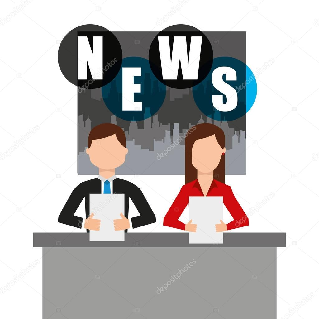 Reporter Breaking News Icon Stock Vector