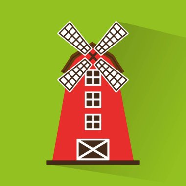 windmill farm building icon