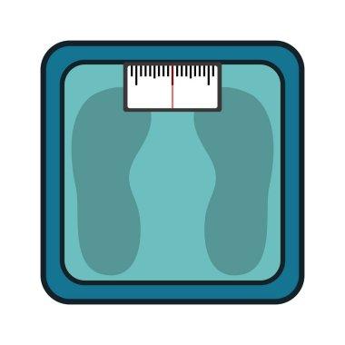 Scale balance measure weight gym vector illustration design clip art vector
