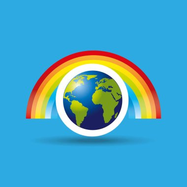 globe earth weather meteorology rainbow