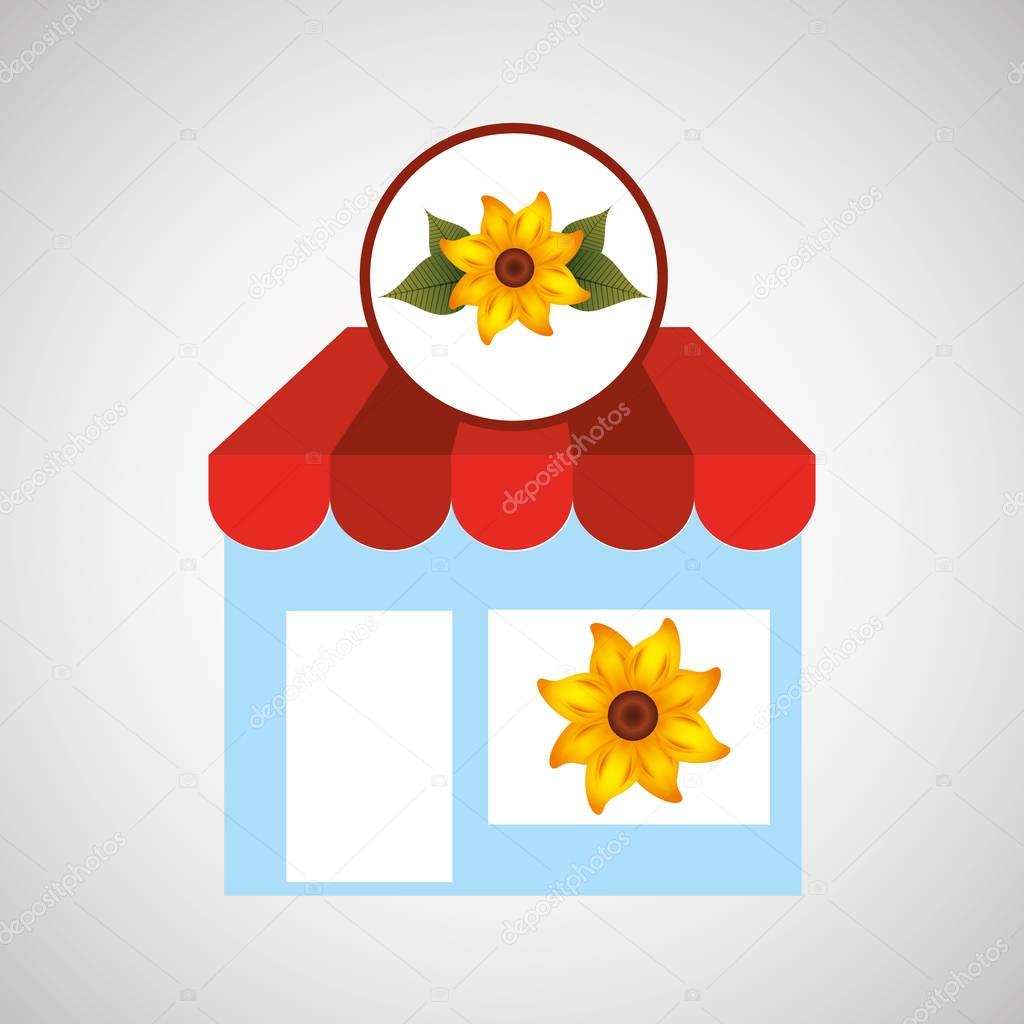 flower store shop concept cute yellow lily