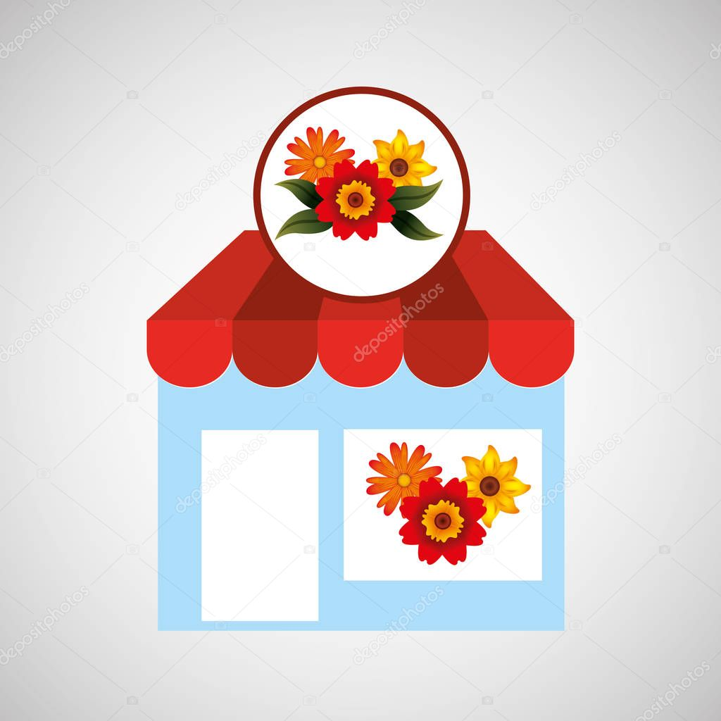 flower store spring decoration icon