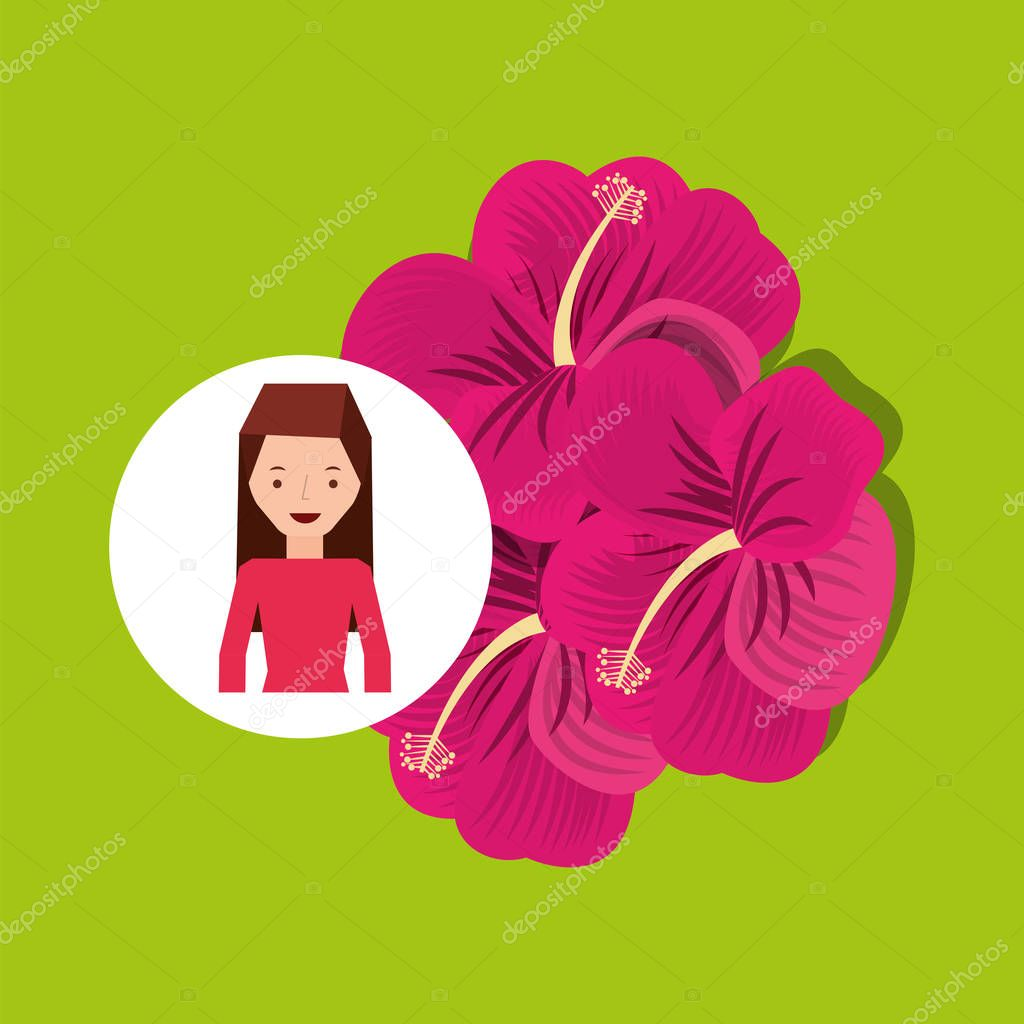 Cute lily flower girl cartoon icon stock vector yupiramos 130141378 cute lily flower girl cartoon icon vector illustration eps 10 vector by yupiramos izmirmasajfo