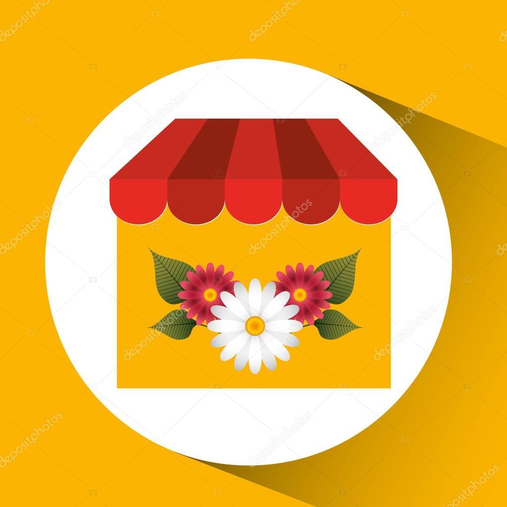 flower gardenia store spring decoration icon