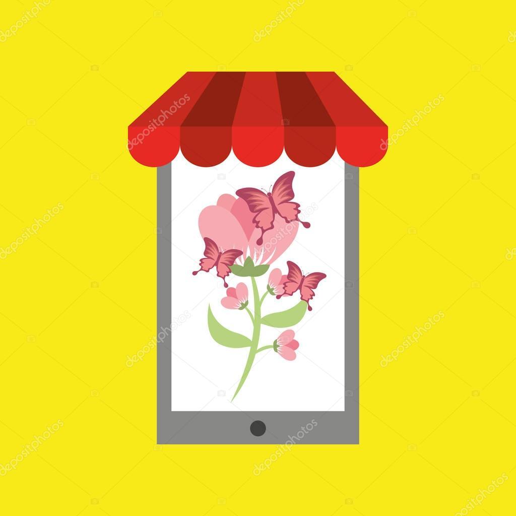 concepto de descuento online de tienda de flores 17db37abe67