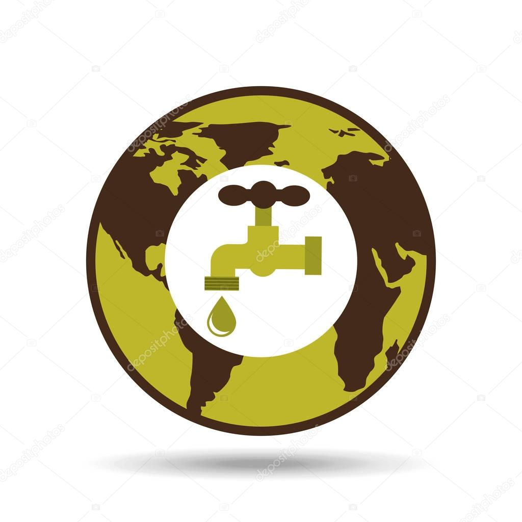 map earth environment ecological green tap water