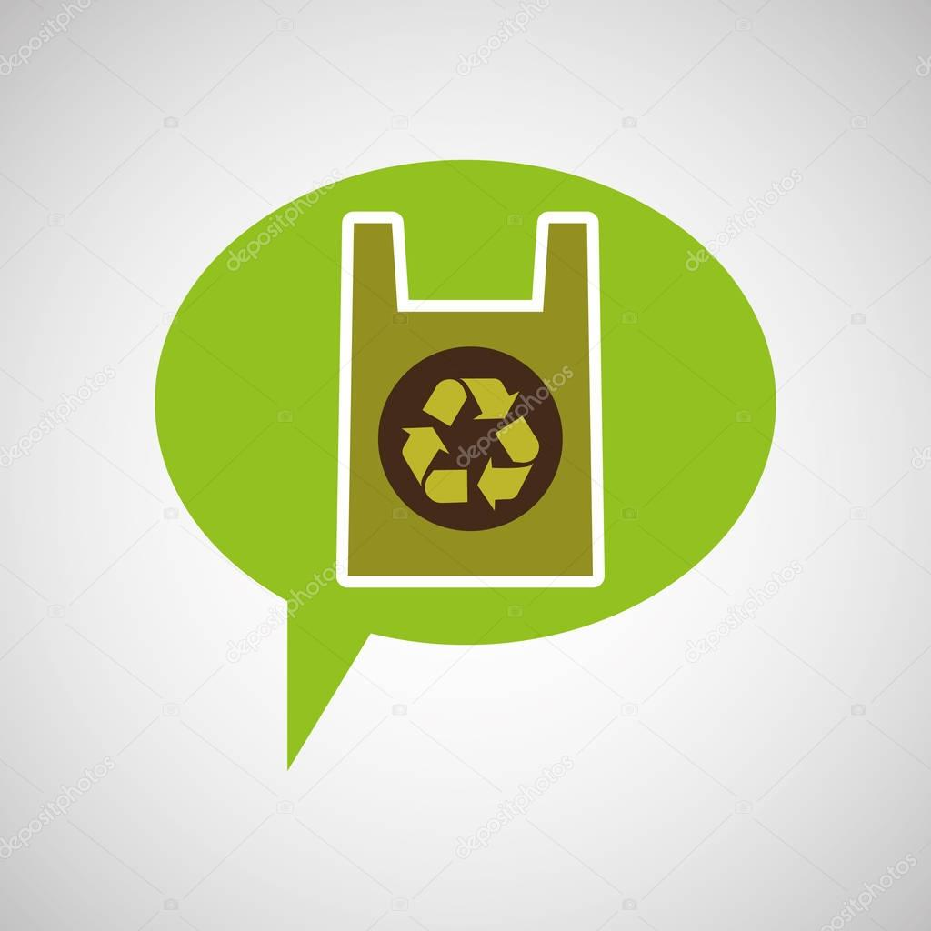 symbol recycle plastic bag design