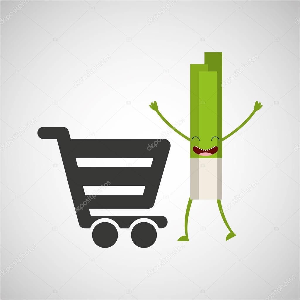 concept market buy fresh celery