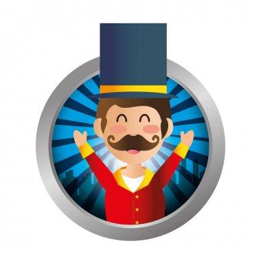 Circus ceremony master icon