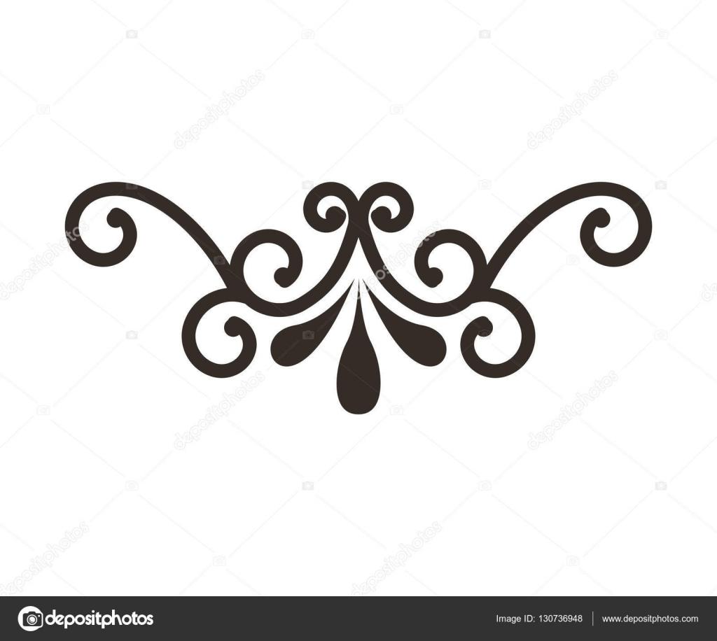 ic ne isol de cadre en fer forg image vectorielle yupiramos 130736948. Black Bedroom Furniture Sets. Home Design Ideas