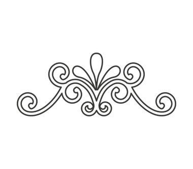 wrought iron frame isolated icon
