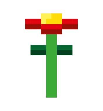 flower garden pixelated icon