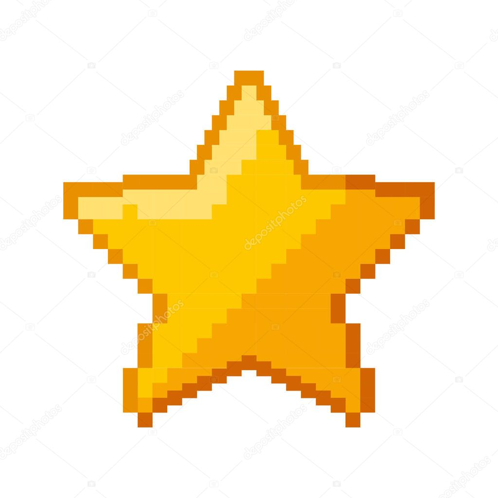 Star game pixelated icon vector illustration design stock vector