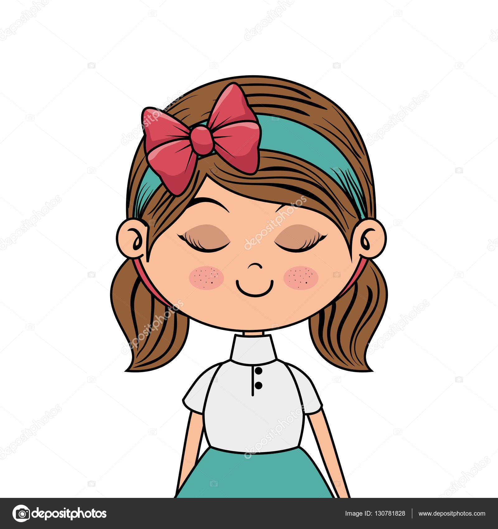 かわいい女の子キャラクター ストックベクター Yupiramos 130781828