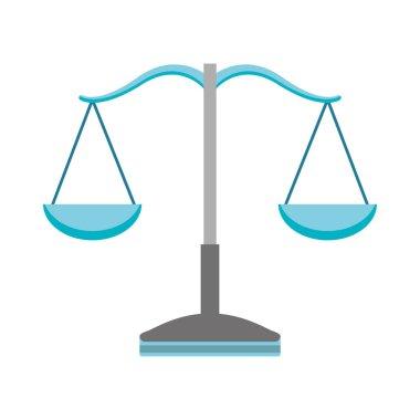 balance scale isolated icon