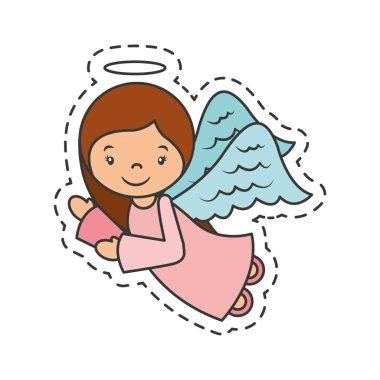 cute angel manger character