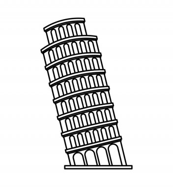 piza tower italy icon