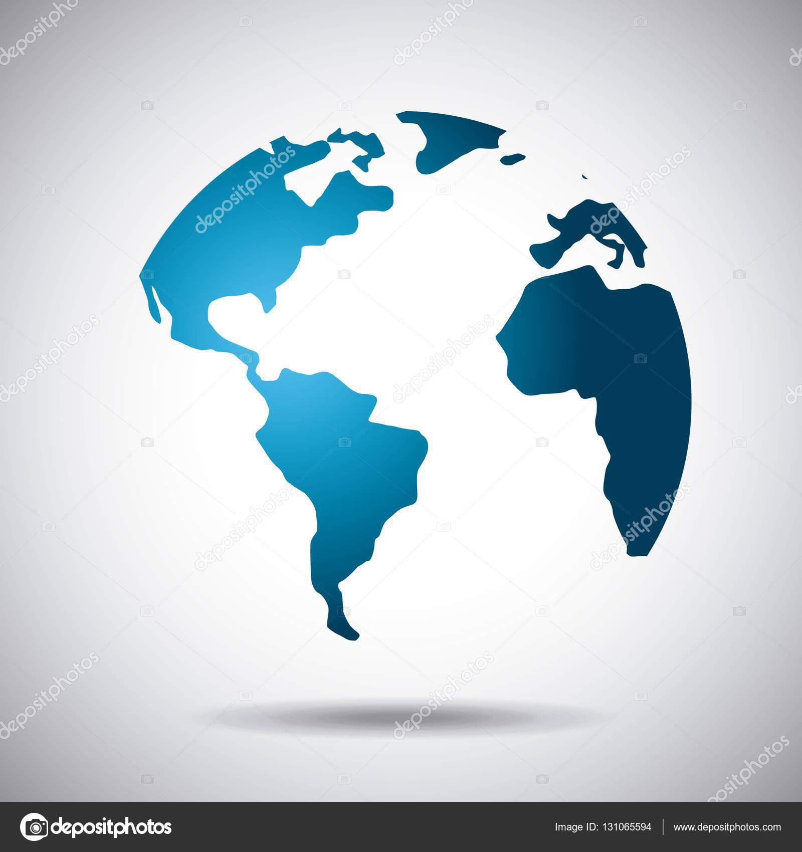 World map icon stock vector yupiramos 131065594 blue world map over white background vector illustration vector by yupiramos gumiabroncs Gallery