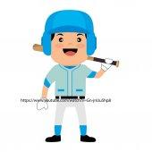 Fotografie Baseball Club Spieler Feld Label-design