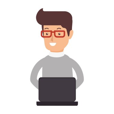 avatar person working icon