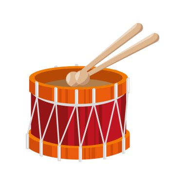 drum toy kid isolated icon