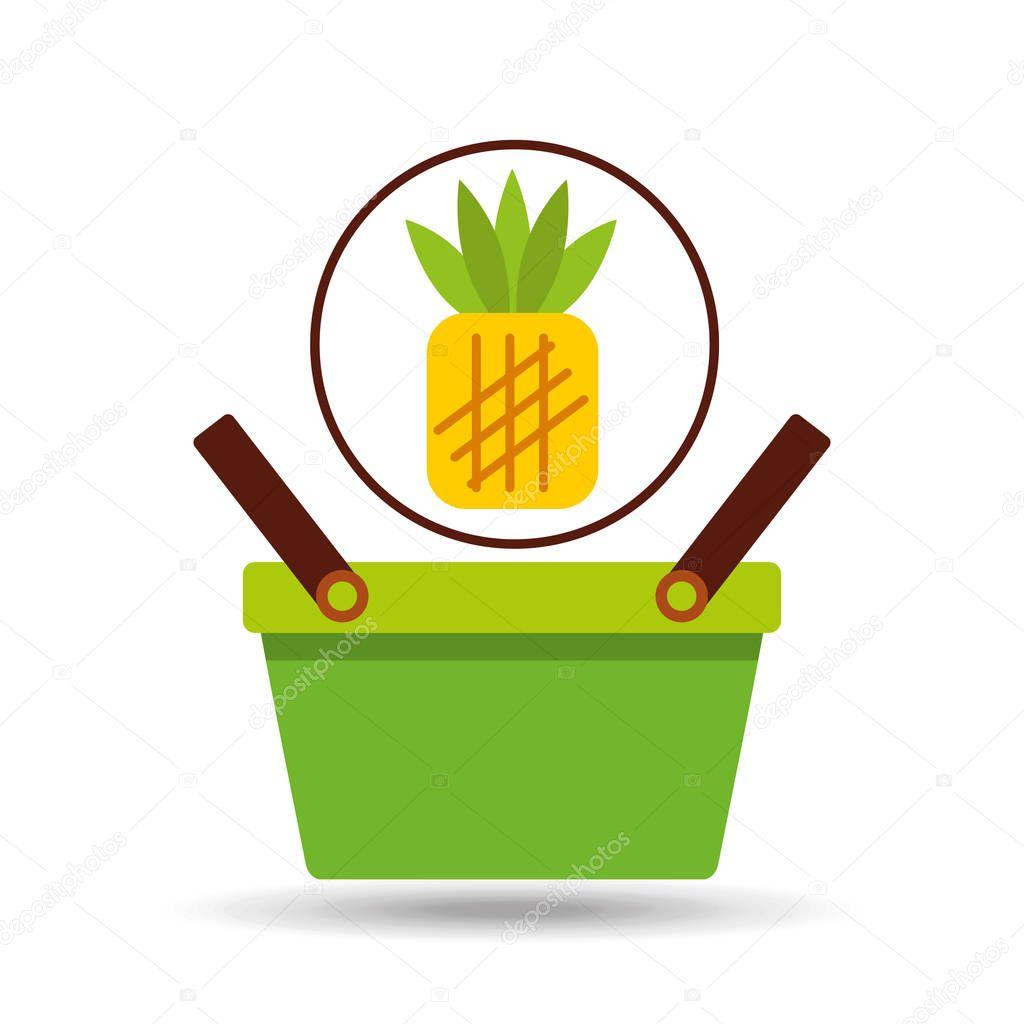 commerce basket pineapple