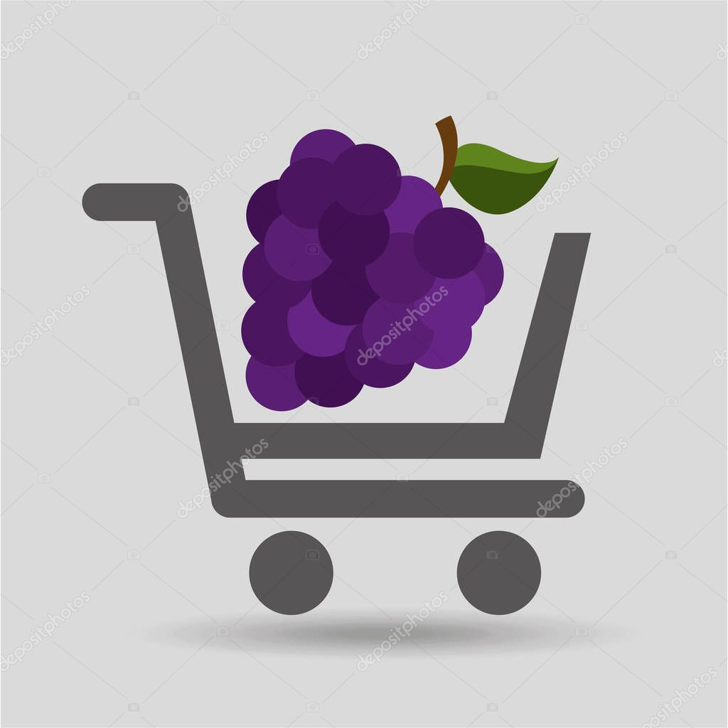 e-shopping fresh grape fruit design