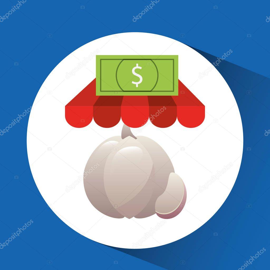 buying online garlic vegetable icon