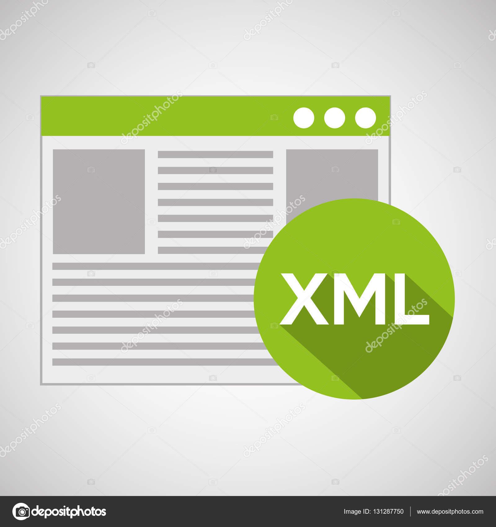 Web Entwicklung Seite Code xml — Stockvektor © yupiramos #131287750