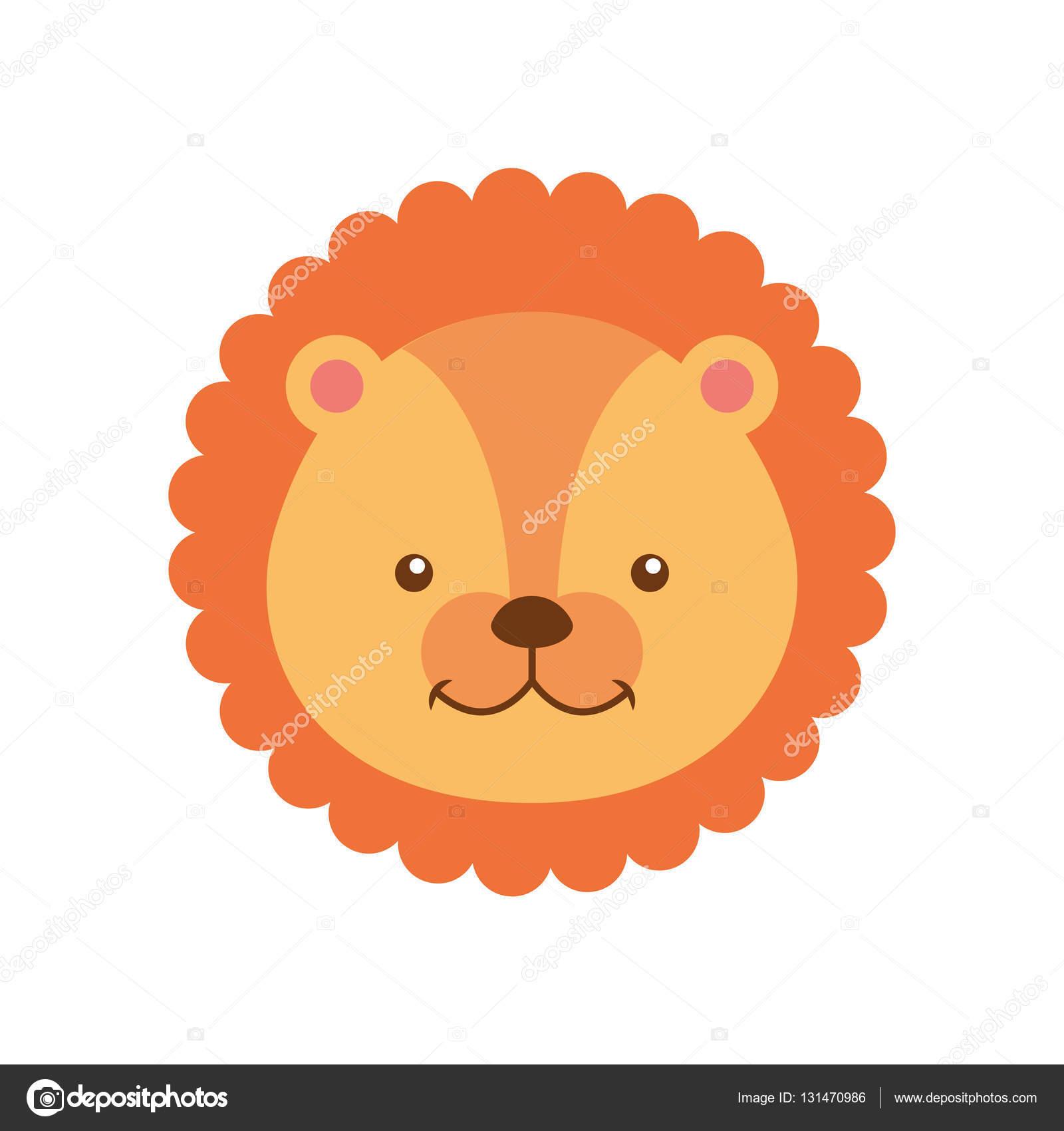 ライオンかわいい動物アイコン ストックベクター Yupiramos 131470986