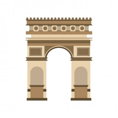arch of triumph landmark icon