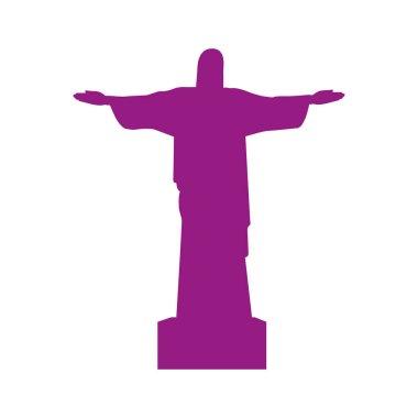 christ of corcovado landmark icon