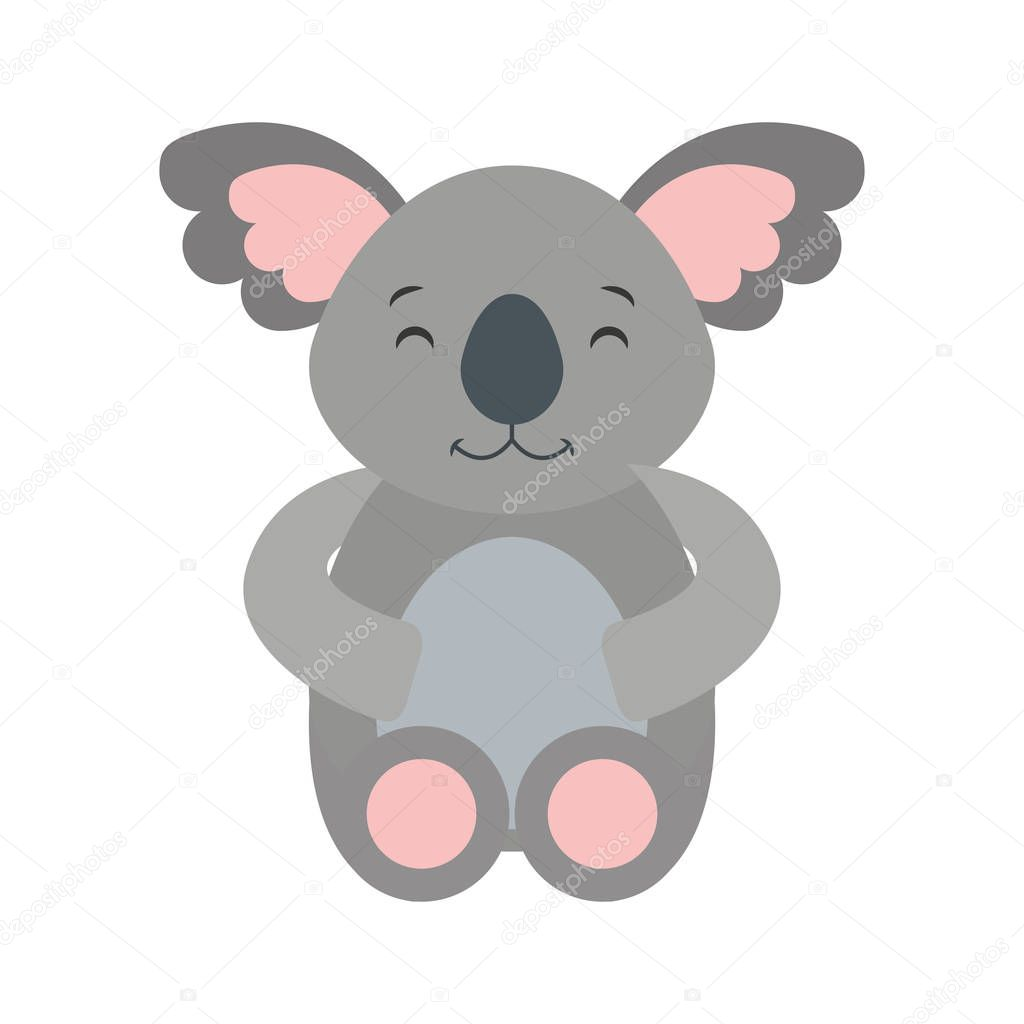 cute cohala animal icon
