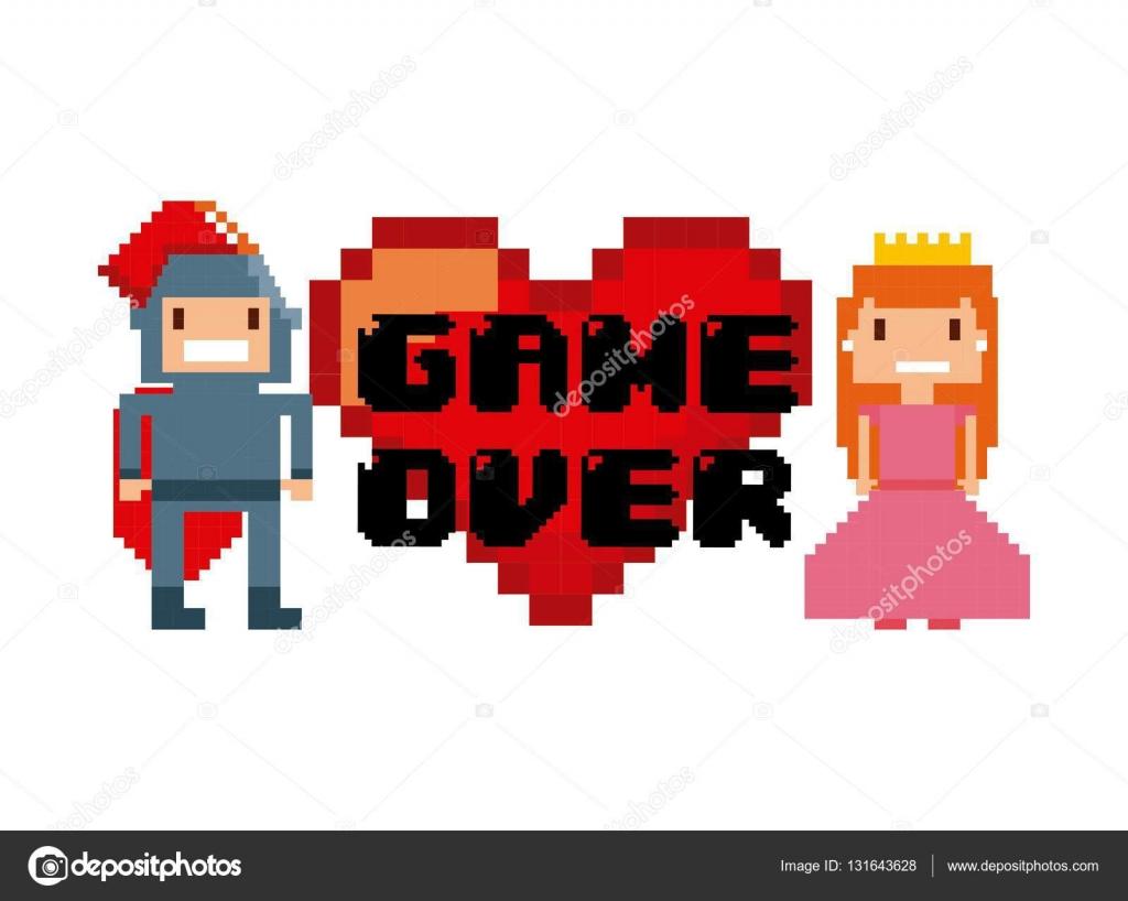 Video game pixel design — Stock Vector © yupiramos #131643628