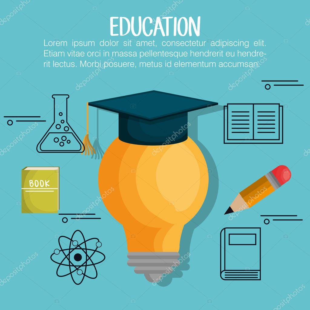 education set line icons