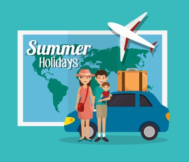 summer vacations holiday poster