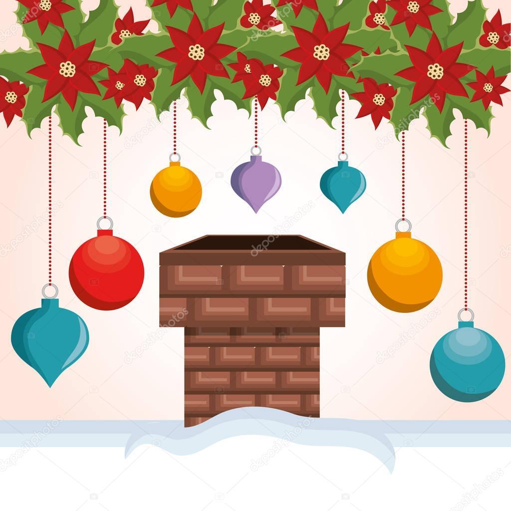 chimney house christmas icon