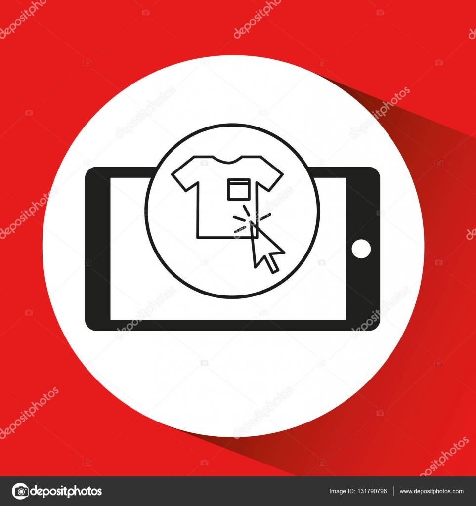 423f8a4f4556 grafico di vestiti di smartphone e-commerce — Vettoriali Stock ...