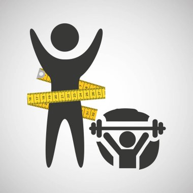 lose weight concept weight lifting