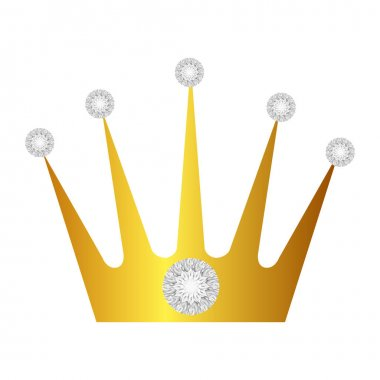 crown with diamonds isolated icon