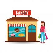 Fotografie Mädchen-Bäckerei einkaufen Geschenk kaufen