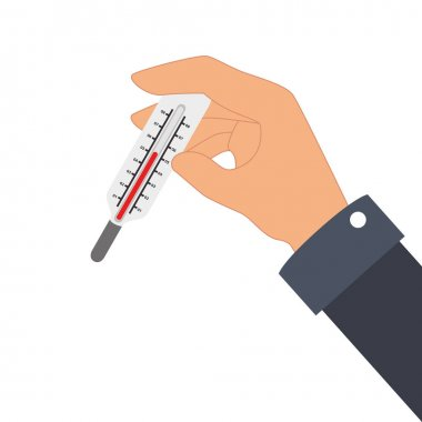 Hand human with thermometer vector illustration design clip art vector