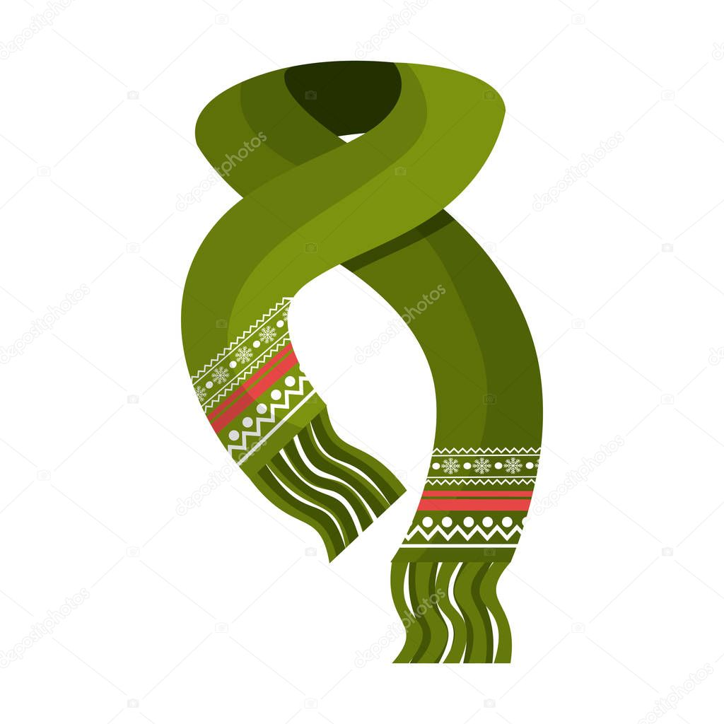 winter scarf clothes icon